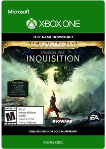 Dragon Age: Inquisition: Game of the Year [Xbox One - Download Code] £8.33 @ Amazon UK