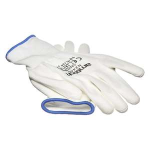 Am-Tech Light Duty PU Coated Work Gloves White XL Size 10 - £1.29 Delivered @ Euro Car Parts