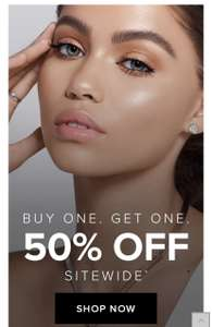 Buy one get other 50% off @ Anastasiabeverlyhills