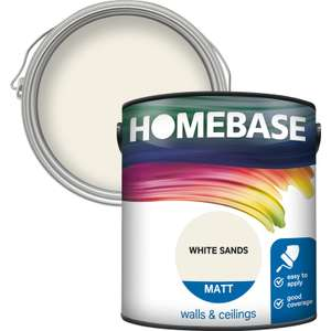 3 for 2 on coloured homebase emulsion 2.5L £12 / 5L £18 (279 products) + Free delivery @ Homebase