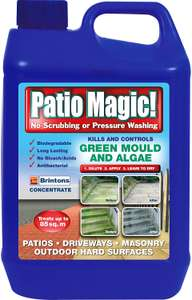 Patio Magic! 016491 Concentrate: Ideal for Patios, Paths and Driveways 2.5 £6 (+£4.49 Non Prime) at Amazon