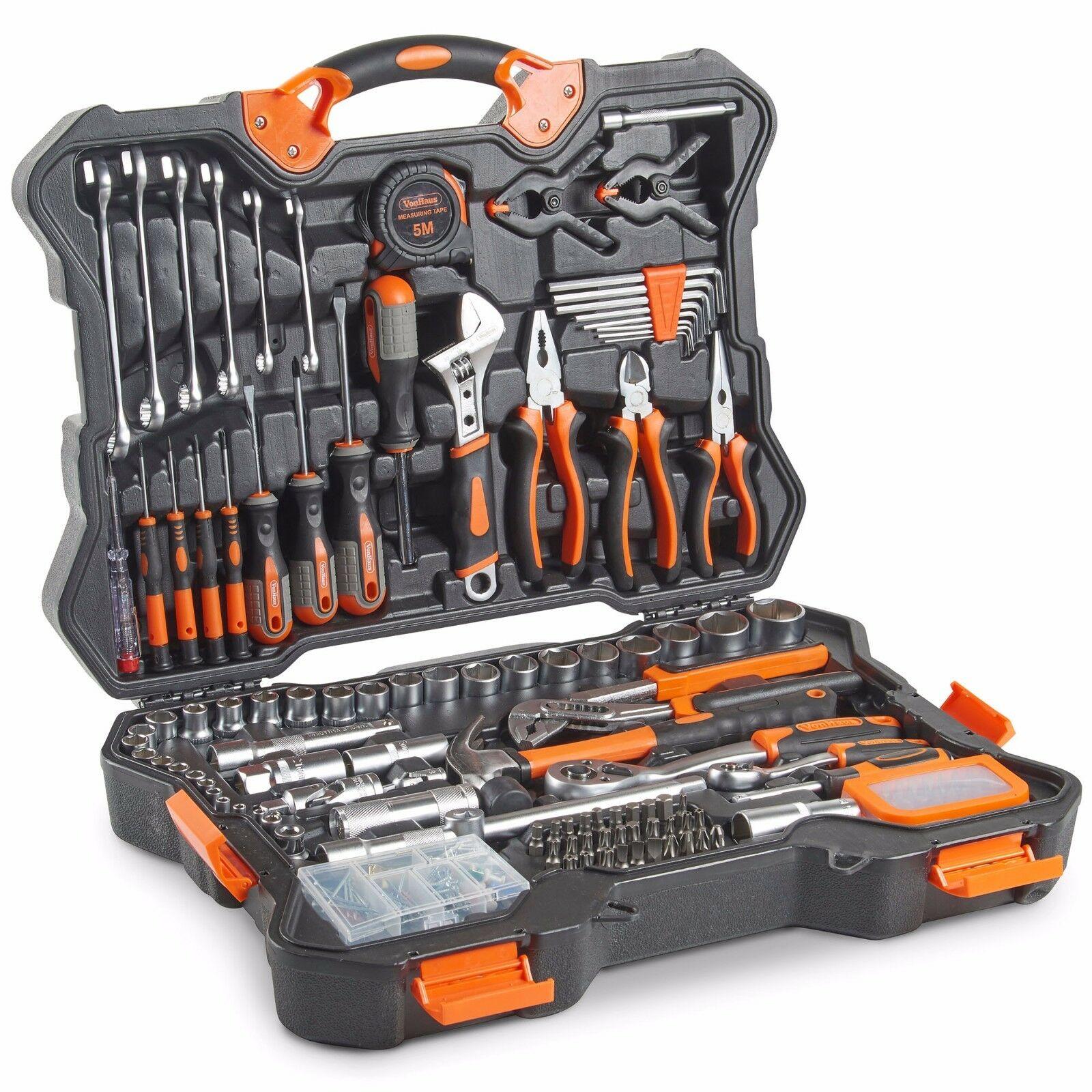 VonHaus 256pc Premium Household Hand Tool, Bits & Socket Wrench Set £68.39 at domu-uk eBay