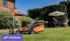 Yard Force 40V 32cm Cordless Lawnmower Plus Cordless Grass Trimmer with ONE Lithium-ion Battery £117 with code @ Groupon