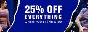 25% off all Sports Clothing and Trainers (Min Spend £100) @ Life Style