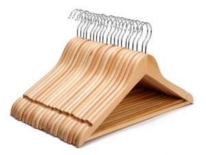 20 x Wooden Coat Hangers £9.79 delivered at dickensbedding/ebay (cheaper with multi buy)