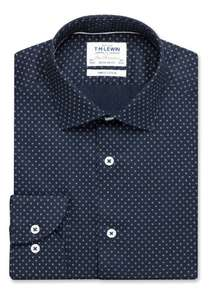 TM Lewin shirts £14.95 delivered e.g Gyroscopic Print Fitted Pink Single Cuff Shirt & Navy Twill Regular Fit Button Cuff Diamond Spot Shirt