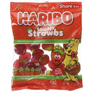 HARIBO Squidgy Strawbs (Pack of 12 140g each) £10.80 prime / £15.29 non prime at Amazon