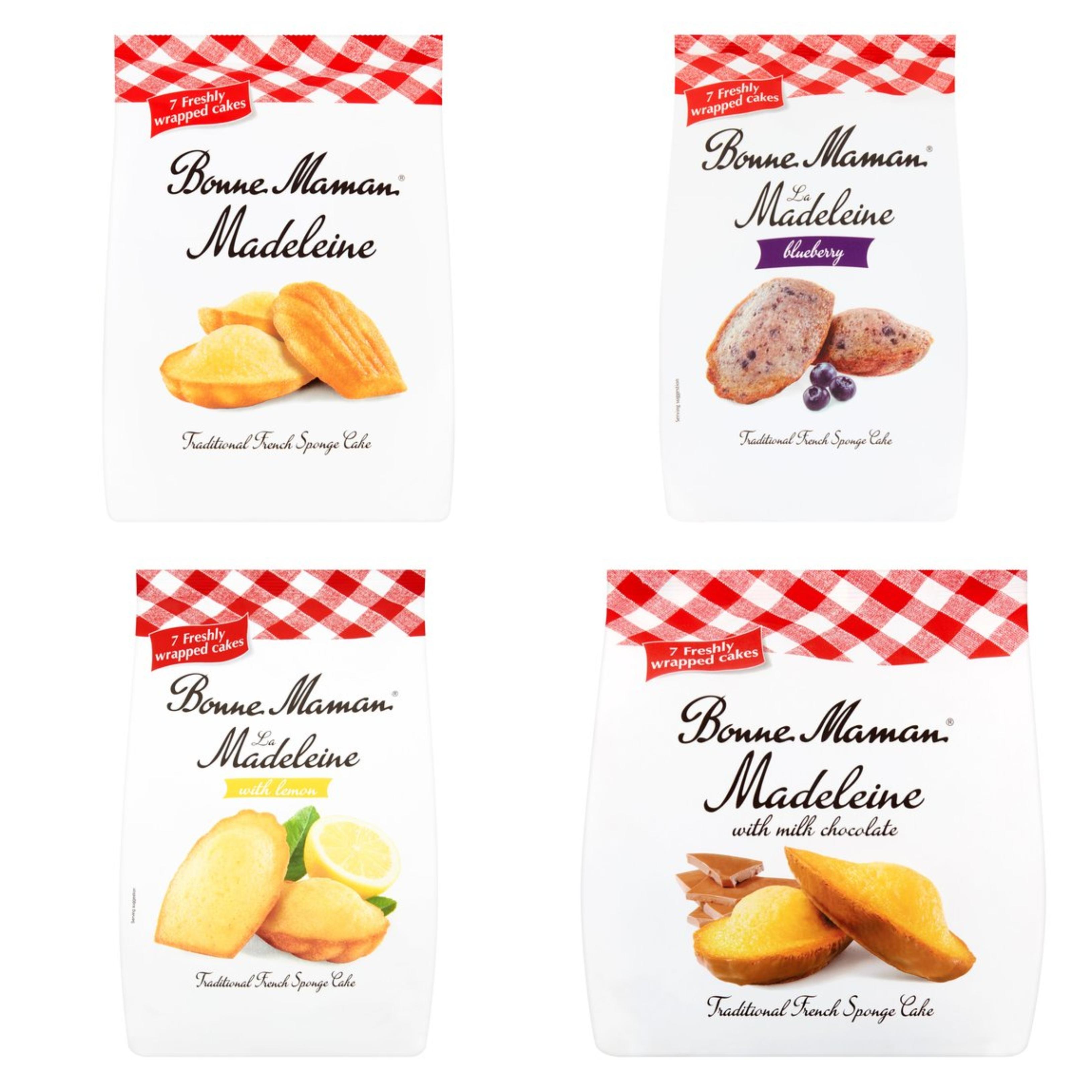 Bonne Maman La Madeleine / Chocolate / Blueberry / Lemon Madeleine 7 Pack - £1.50 @ Tesco