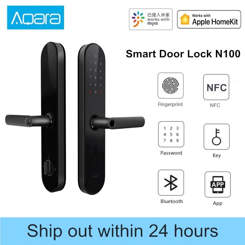 Aqara N100 Smart Door Lock Fingerprint Bluetooth NFC Works with Mijia Apple HomeKit £136.99 aliexpress / Aqara Online