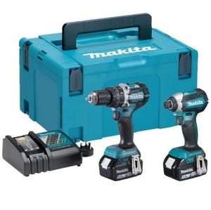 Makita DLX2180TJ LXT 18V Brushless Li-Ion 2 Piece Kit (2 x 5 Ah Batteries) £288 at hsstoolshop