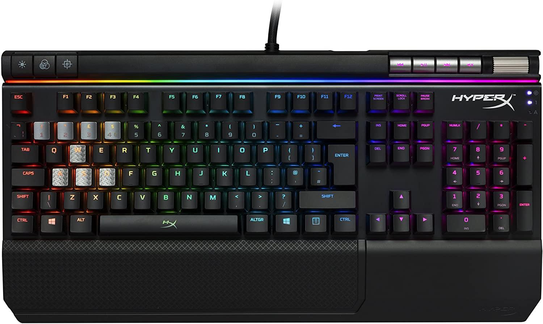 HyperX HX-KB2RD2-UK Alloy Elite RGB Mechanical Gaming Keyboard, Cherry MX Red (UK layout) - £84.99 @ Amazon