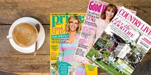£1 – 3 issues of Good Housekeeping, Red & more, inc delivery @ Wowcher