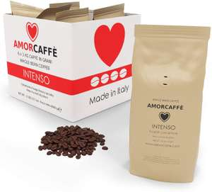 Amorcaffe Intenso Taste Coffee Beans (6 x 1kg bags - works out at £5.33 per 1kg bag) £31.99 Sold by acaffe and Fulfilled by Amazon