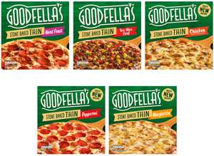 Goodfella's Stonebaked Thin Pizzas Pepperoni 365g / Roast Chicken / Tex Mex / Meat Feast / Margherita - £1.25 each @ Morrisons
