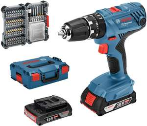 Bosch Professional Drill GSB 18V-21 (2x 2.0 Ah batteries, 40-piece bit set, Charger, carry L-BOXX) £106.90 Delivered @ Amazon Italy