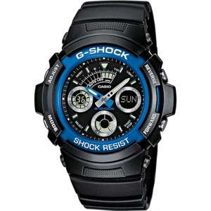 Casio Mens G-Shock Black Chronograph Sports Watch £44.79 delivered at Wathces2U with code