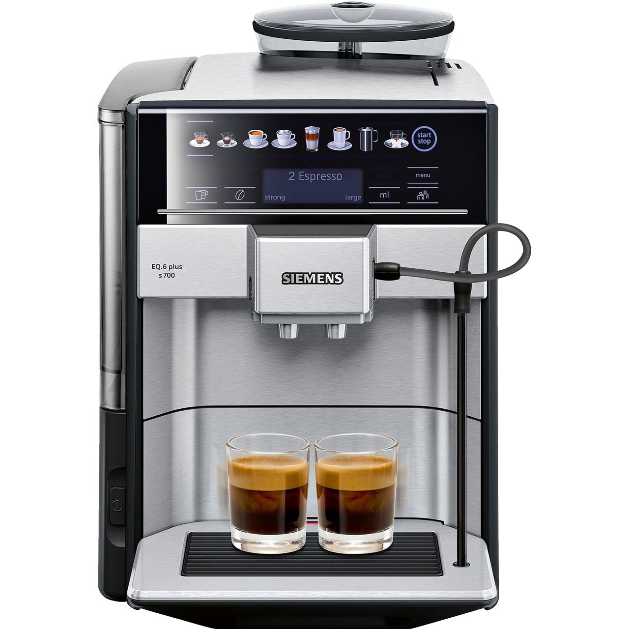 Siemens EQ6 TE657313RW Bean to Cup Coffee Machine - Silver £899 at ao.com