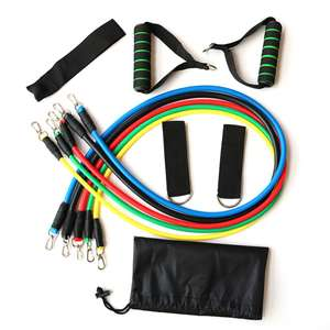11Pcs Resistance bands expander fitness set for £9.83 delivered from Spain @ AliExpress Deals / TOPTOON Outdoor Store