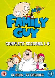 Family Guy: Seasons 1-5 DVD (2006) - Used 'Very Good' £4.17 @ msuicmagpie /eBay