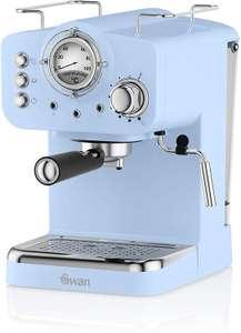 Swan SK22110BLN, Retro Pump Espresso Coffee Machine, 15 Bars of Pressure, Various Colours Used Good from £60.40 delivered @ Amazon Warehouse
