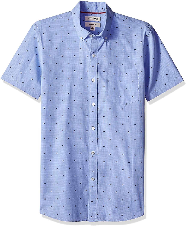 Amazon Brand - Goodthreads Men's Slim-fit Short-sleeve Dobby Sport Shirt £8 (Prime) £12.49 (non Prime) at Amazon