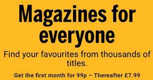 Magazines for everyone 99p for first month at Readly