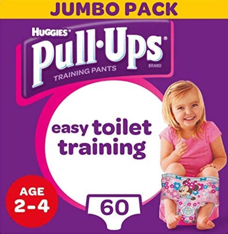 Huggies Pull-Ups Girl's Potty Training Pants, 2-4 Years, (60 Pants) was £20.00 now £8.89 + £4.49 NP @ Amazon