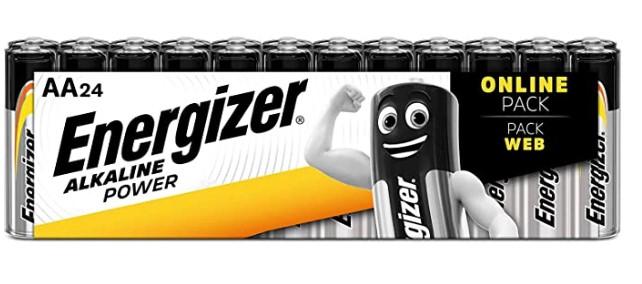 Energizer AA Batteries, Alkaline Power Double A Batteries £7.99 prime / £12.48 non prime @ Amazon