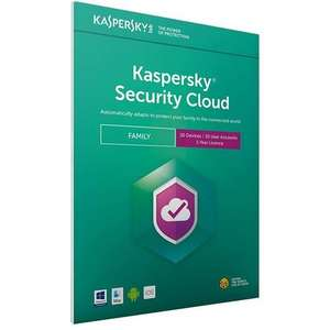 Kaspersky Security Cloud - Family (20 Devices, 1 Year) £24.99 at MyMemory