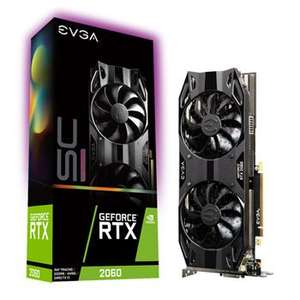 EVGA NVIDIA GeForce RTX 2060 6GB SC ULTRA GAMING Turing Graphics Card £299.99 + £5.48 delivery at Scan