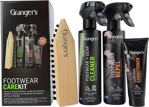 Grangers Footwear Care Kit Bags & Accessories Synthetic Material Shoe Care Assorted £7.65 (Prime) £12.14 (Non-Prime) @ Amazon