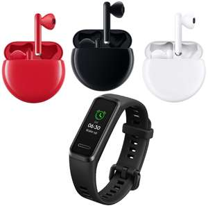 Huawei FreeBuds 3 (Red, Black or White) + Band 4 In Black for £114.99 Using Code @ Huawei