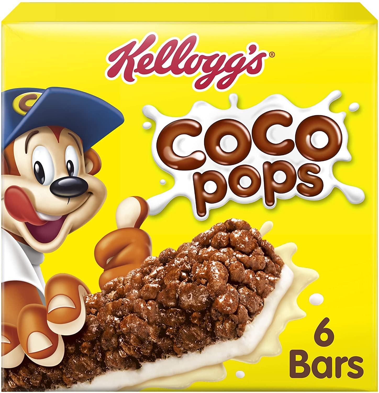 Kellogg's Coco Pops Cereal Bars, 6-Piece (Pack of 7) £6.93 (Prime) £11.46 (Non Prime) at Amazon