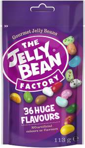 The Jelly Bean Factory 36 Huge Flavours 113 g Pouch - £1.25 (Min order 4) - £5 Prime / £9.49 Non Prime @ Amazon