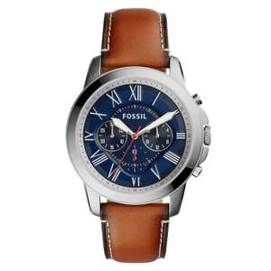 Fossil Men's Chronograph Brown Leather Strap Watch £47 at H Samuel