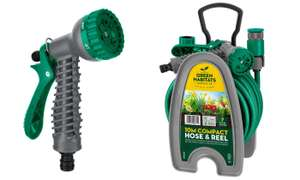 Green Habitats 10m Mini Hose and Reel Set inc. Spray Nozzle £10.07 delivered with code @ Groupon
