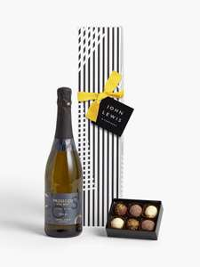 Prosecco & Chocolates Gift £7.50 (+£3.50 delivery) @ John Lewis & Partners