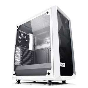 Fractal Design Meshify C White Tempered Glass Mid Tower PC Gaming Case with 2 x 120mm Fans - £79.99 @ Amazon