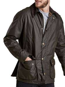 Barbour Lifestyle Ashby Waxed Cotton Field Men's Jacket, Olive £146.30 John Lewis & Partners