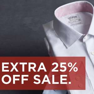 TM Lewin - 25% sale off all items Shirts Starting from £11.21 plus free standard delivery