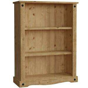Mexican Pine Distressed Low Bookcase £38.20 Delivered using code @ eBay / Home Discount Ltd