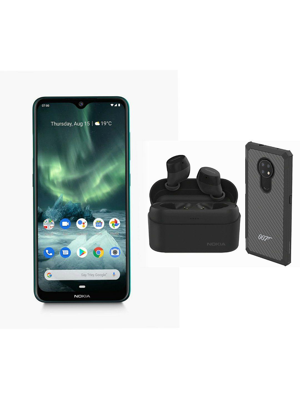 New Nokia 7.2 Cyan Green 64GB Dual Sim + Nokia Power buds & Kevlar Case £186.99 @ Technolec Ebay