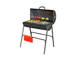 Argos Home Charcoal Oil Drum BBQ with Warming Rack £40/£43.95 Delivered From Argos