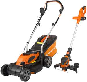 Yard Force cordless lawn mower and strimmer - £111.15 @ Amazon