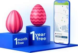 NordVPN Easter Offer 3-year VPN subscription for £96.74 + 1 extra month/year free with lucky dip