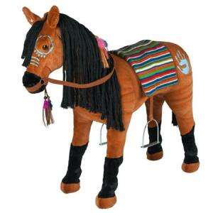 Happy People Plush Ride On Horse With Sounds - H61 x W75 x D23cm £29.99 Delivered @ Bargain Max