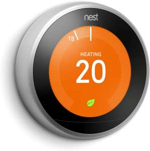 Google Nest T3028GB Nest Learning Thermostat, 3rd Generation, silver £159.99 at Amazon