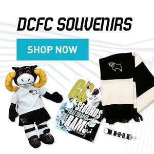 Derby County. Massive reductions on kit and trainingwear up to 60% off