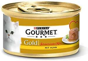 Purina Gourmet Gold Melting Heart: cat food, wet food for adult cats, pack of 12 (12 x 85 g) - £4.59 (+£4.49 non-Prime) @ Amazon