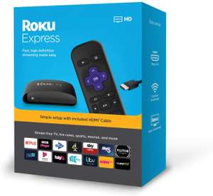 Roku Express | HD Streaming Media Player - £19.99 Prime / £24.48 Non Prime Delivered @ Amazon